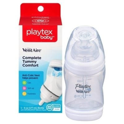 Playtex Baby bottle with nipples