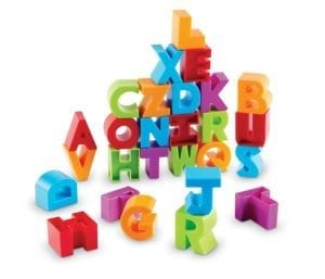 3D letter building blocks