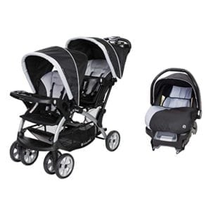 twin stroller with infant car seat