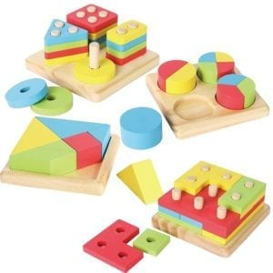 wood shape sorter game