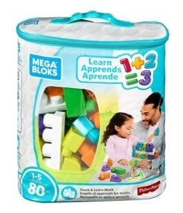 Mega Bloks math blocks