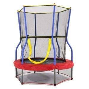 outdoor trampoline with enclosure