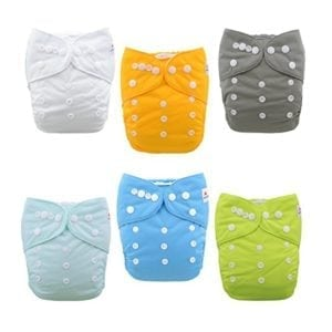 colorful cloth diapers
