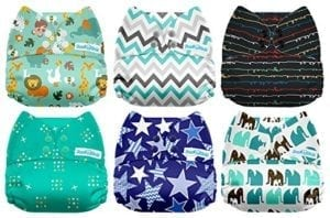patterned reusable diapers