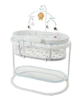 baby cradle with mobile