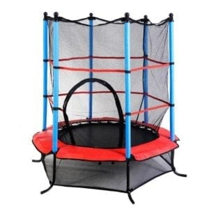 small trampoline with enclosure