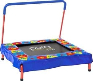 square trampoline with handle