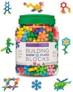 snowflake construction toy