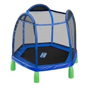 first trampoline with safety net