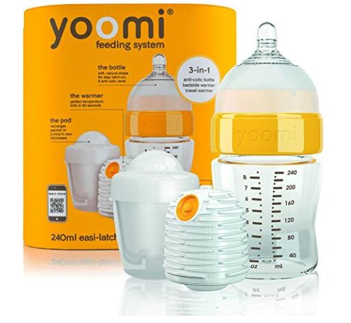 yoomi bottle with baby nipple