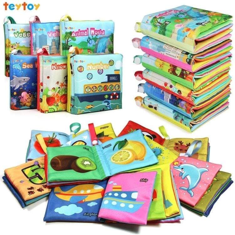 My First Soft Book,TEYTOY Nontoxic Fabric Baby Cloth Books