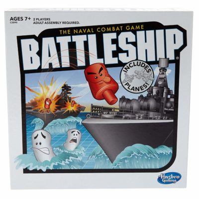 board game battleship box set with images of ships on it