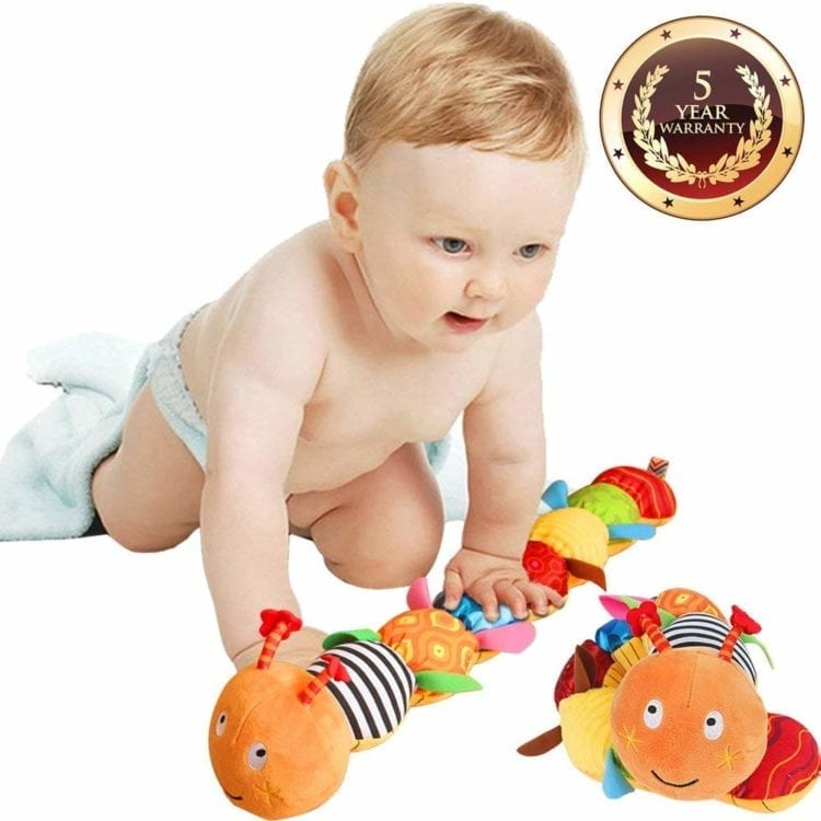 Multicolored Infant Toy Stuffed Cuddly Baby Toy with Ruler Design