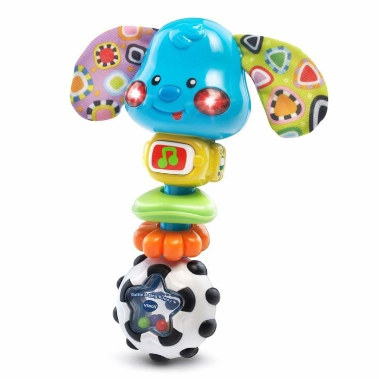 Baby Rattle toy with dog face