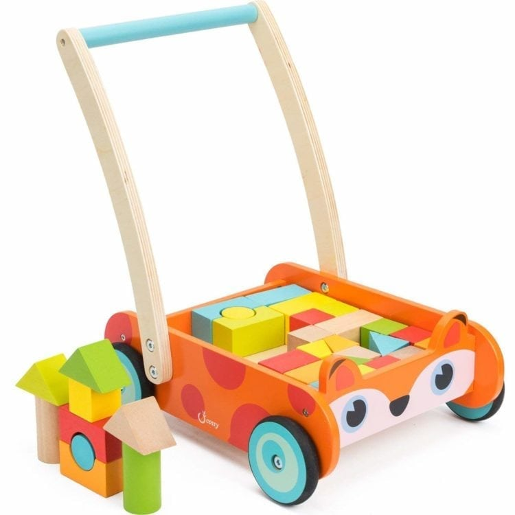 Fox Blocks and Roll Cart Push and Pull Toy