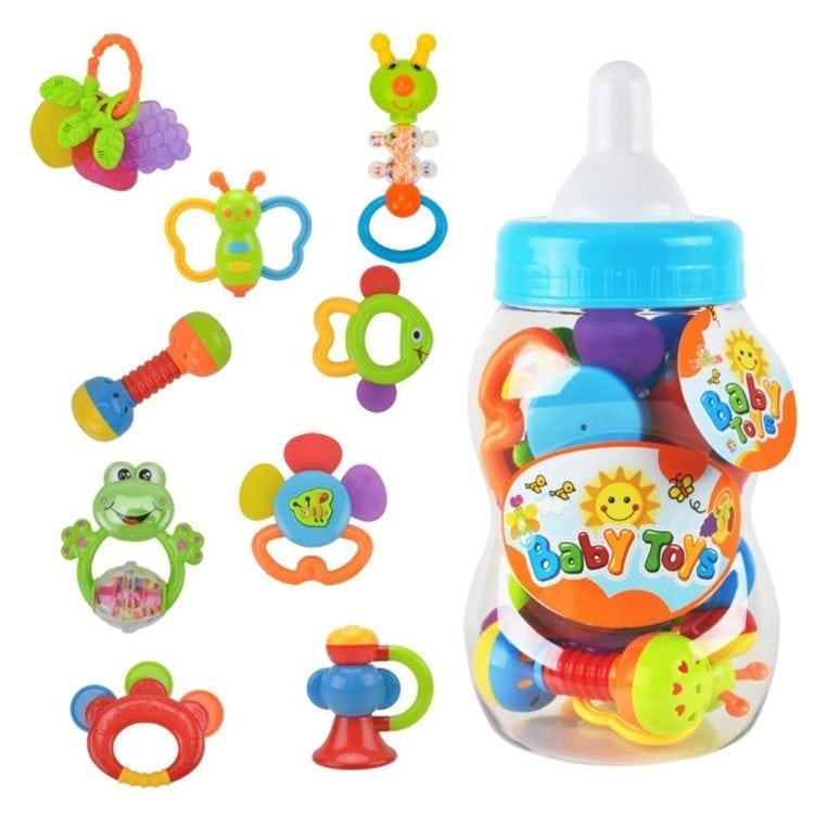 Rattle Teether Set Baby Toys