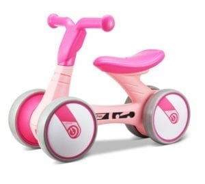 pink balance bike for young toddlers