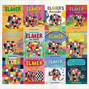 elmer the elephant book set