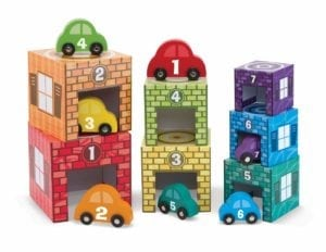 melissa & doug stacking garage toy