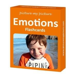 flashcards with 10 emotion pictures