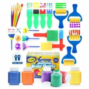 kids painting tools