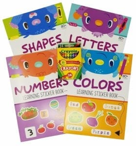 educational sticker activity books for preschoolers