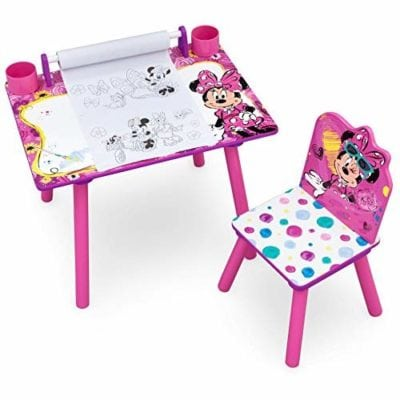 Minnie mouse desk with chair - pink