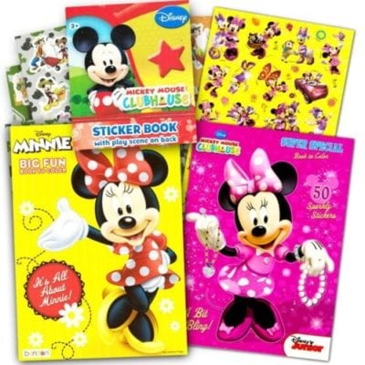 minnie mouse colouring books