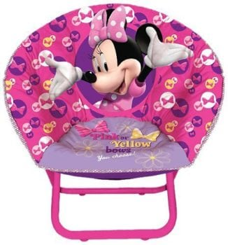 pink Disney Minnie Mouse Toddler Saucer Chair