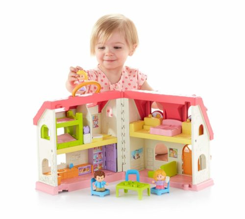 Little People house toy with mini house furniture and people