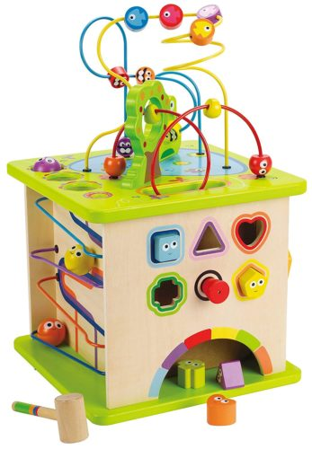 toy wooden activity cube