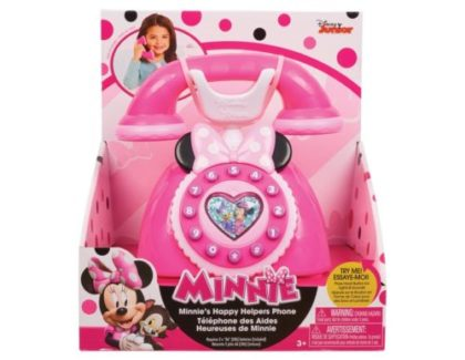 pink minnie mouse play phone set