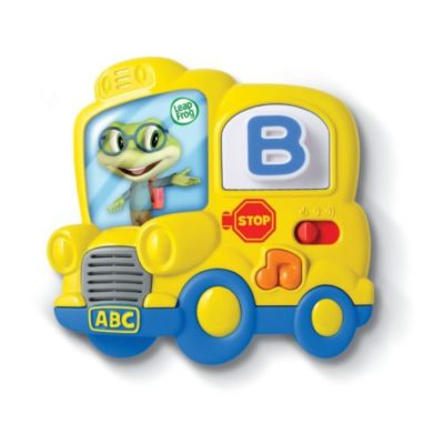 magnetic letter toy for toddlers - yellow bus
