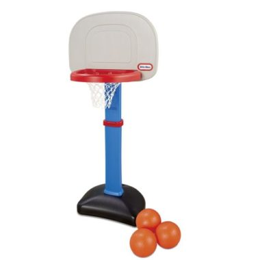 toy basketball hoop set with 3 small basketballs for kids