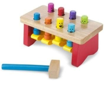 bench pounding toy with mallet