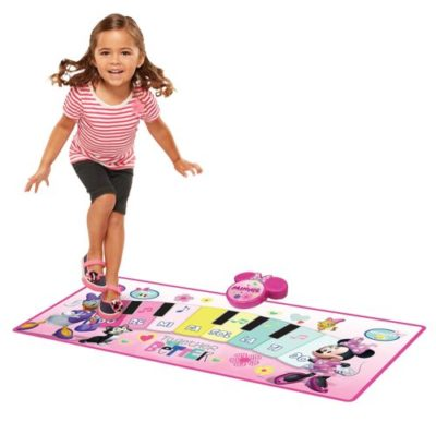 girl playing on minnie mouse Music Mat Play