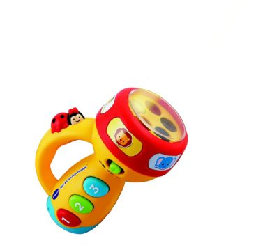 Interactive toy with flashing lights