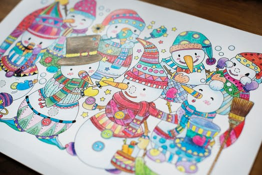 picture of snowmen - kids drawing