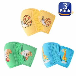 set of 3 knee pads for crawling with animal design