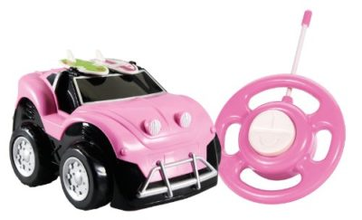 Pink RC car toy for toddlers