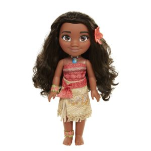 black Disney Moana Adventure Doll with flower in the dolls hair