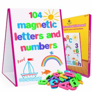 Erase Easel toy with letters and numbers