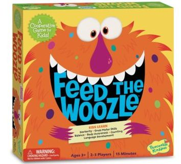 Feed the Woozle board game by Peaceable Kingdom