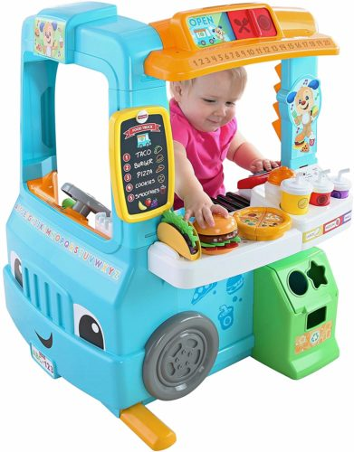 Interactive food prep toy food truck