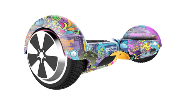 hoverboard with graphics and unusual design - by Gotrax
