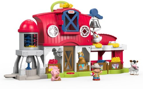 toy farm with 4 animal figures and farmer