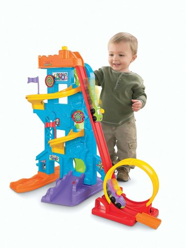 toddler interactive toy with roller coaster