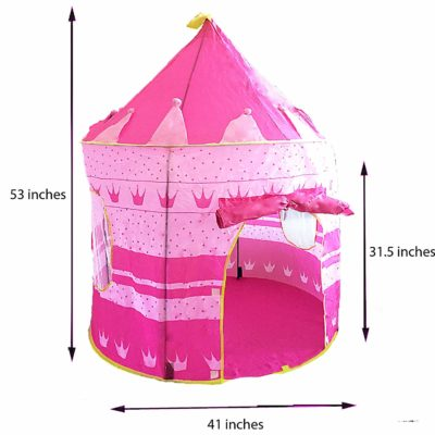 Pink Portable Play Tent For Girls