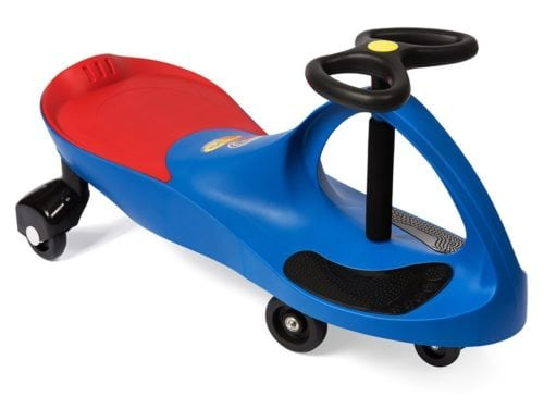 red and blue ride on toy for toddlers