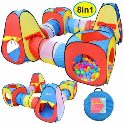Pop up Play Tent with Tunnels and Ball Pit